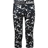 Under Armour Girls' HeatGear Armour Printed Capri Pants