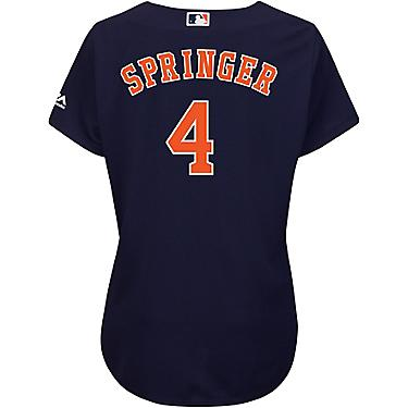 size 40 3665e 72ba1 Majestic Women's Houston Astros George Springer 4 COOL BASE Replica Jersey