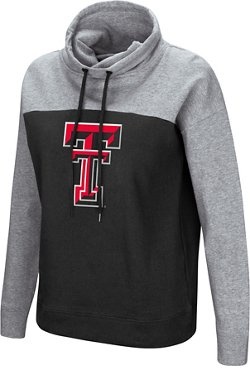 Colosseum Athletics Women's Texas Tech University The Talk Funnel Neck Pullover