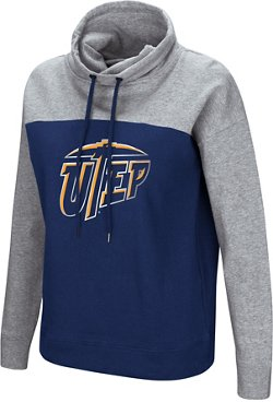 Colosseum Athletics Women's University of Texas at El Paso The Talk Funnel Neck Pullover