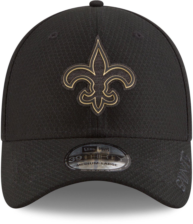 582d0c805 New Era Men s New Orleans Saints 39THIRTY Flex Fit Training Ball Cap ...