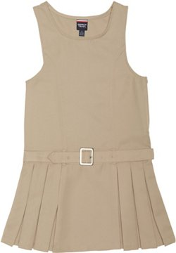 French Toast Girls' Side Pleated Jumper with Faux Belt