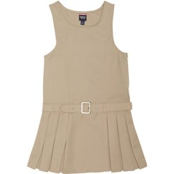 Girls' Side Pleated Jumper with Faux Belt