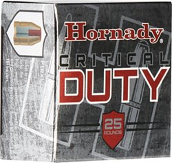 Hornady Critical Duty 9mm +P Luger 124-Grain FlexLock Ammunition