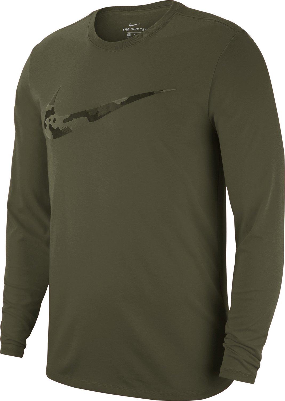 Nike Mens Dry Camo Long Sleeve Training T Shirt Academy