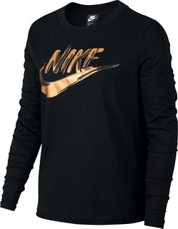 Nike Women's Metallic Long Sleeve Shirt