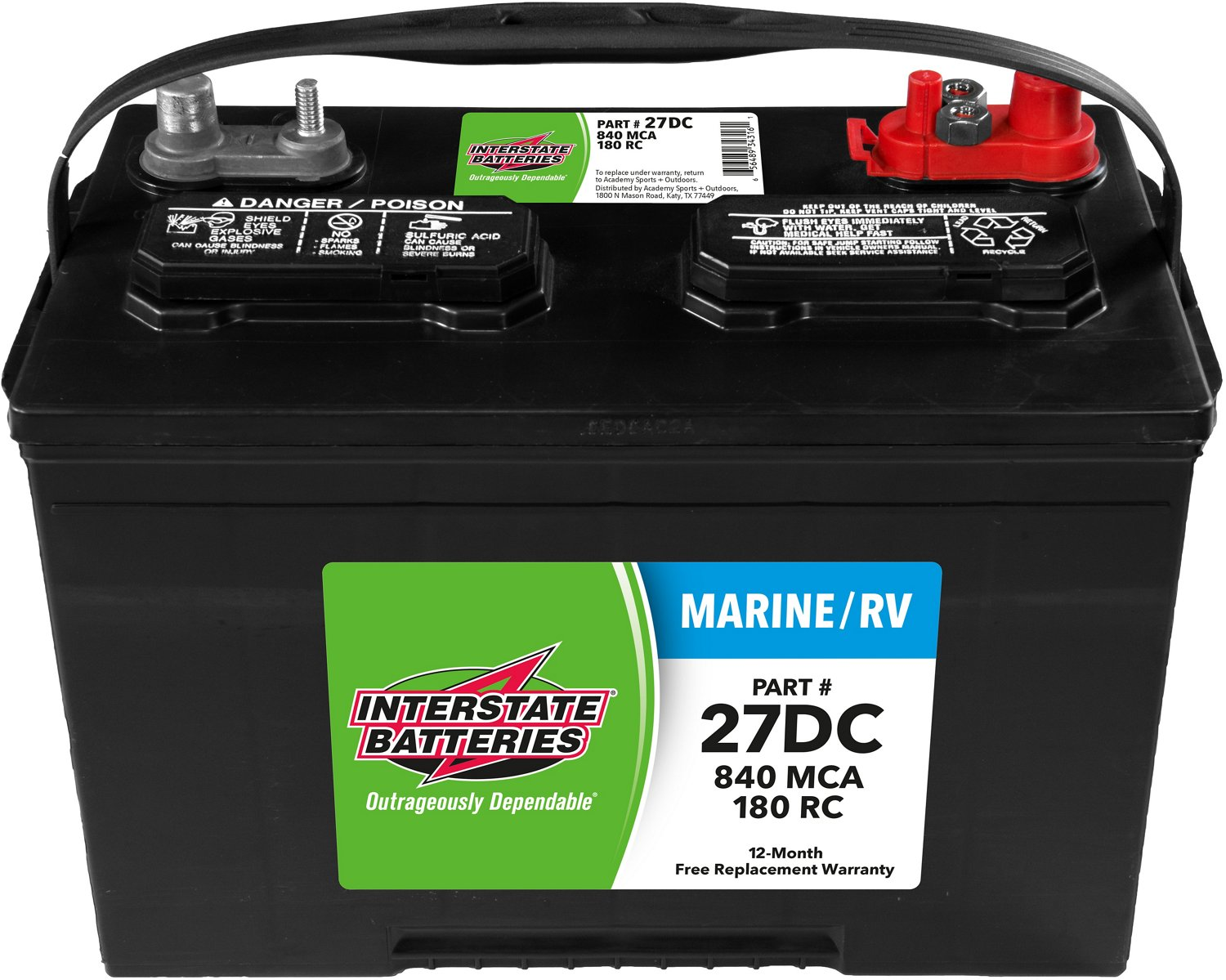 Who Makes Interstate Batteries >> Interstate Batteries Deep Cycle 840 Marine Cranking Amp Battery