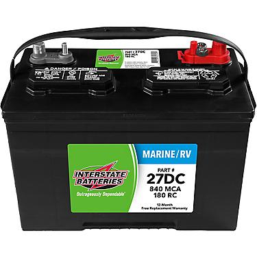 Interstate Deep Cycle Marine Battery >> Interstate Batteries Deep Cycle 840 Marine Cranking Amp Battery