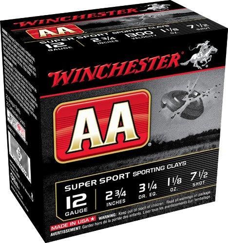 Winchester AA Super Sport Target Load 12 Gauge 7.5 Shot Shotshells 250 Round Case