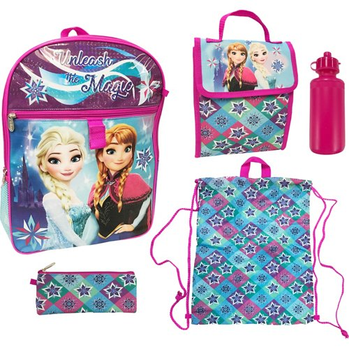 Disney Frozen Girls' 5 Piece Set Backpack