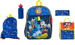 Mickey Mouse Boys' 5 Piece Set Backpack