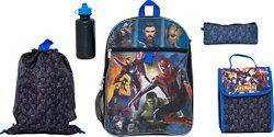 Avengers Infinity War Boys' 5 Piece Set Backpack