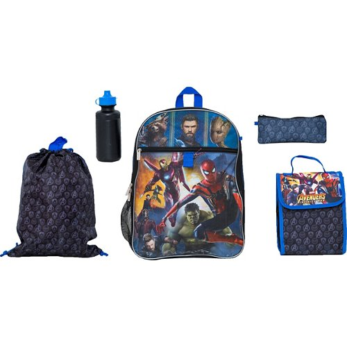 Avengers Infinity War Boys' 5 Piece Set Backpack