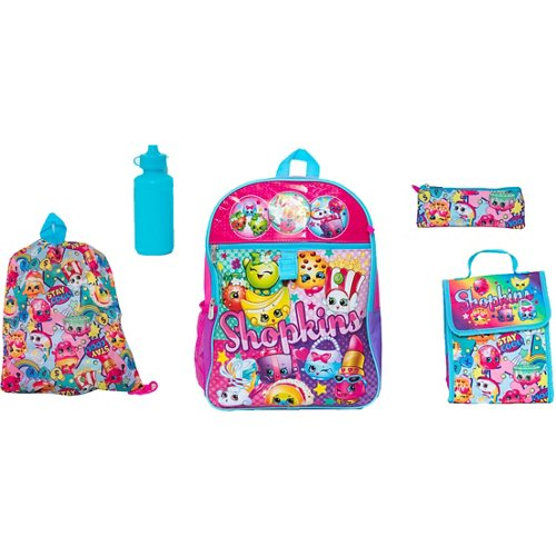 Shopkins Girls' 5 Piece Set Backpack