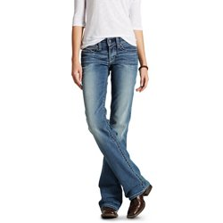Women's R.E.A.L. Mid Rise Whipstitch Boot Cut Jeans