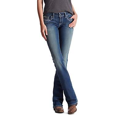 Ariat Women's R.E.A.L. Mid Rise Entwined Boot Cut Jeans