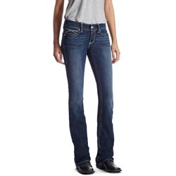 Women's R.E.A.L. Low Rise Rosy Whipstitch Boot Cut Jeans