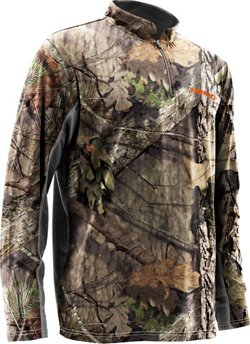 Nomad Men's Cooling Quarter Zip Camo Top