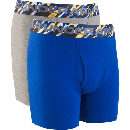 Under Armour Boys' Solid Cotton Boxer Briefs 2-Pack