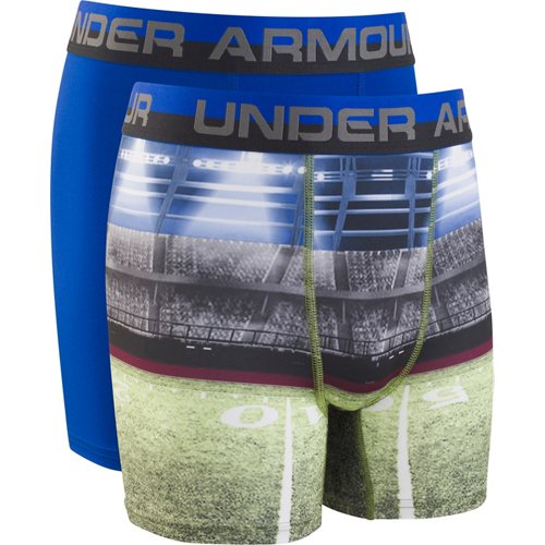 Under Armour Boys' Football Sublimation Boxer Briefs 2-Pack