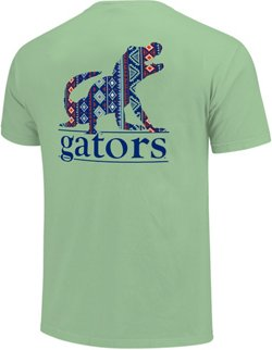 Image One Women's University of Florida Silhouette Lined Type Comfort Color T-shirt