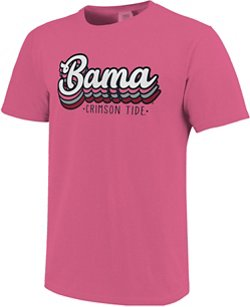 Image One Women's University of Alabama Retro Stack Script Comfort Color T-shirt