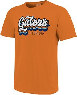Image One Women's University of Florida Retro Stack Script Comfort Color T-shirt