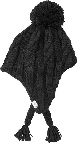 Women's Cable Knit Peruvian Ski Hat With Pom