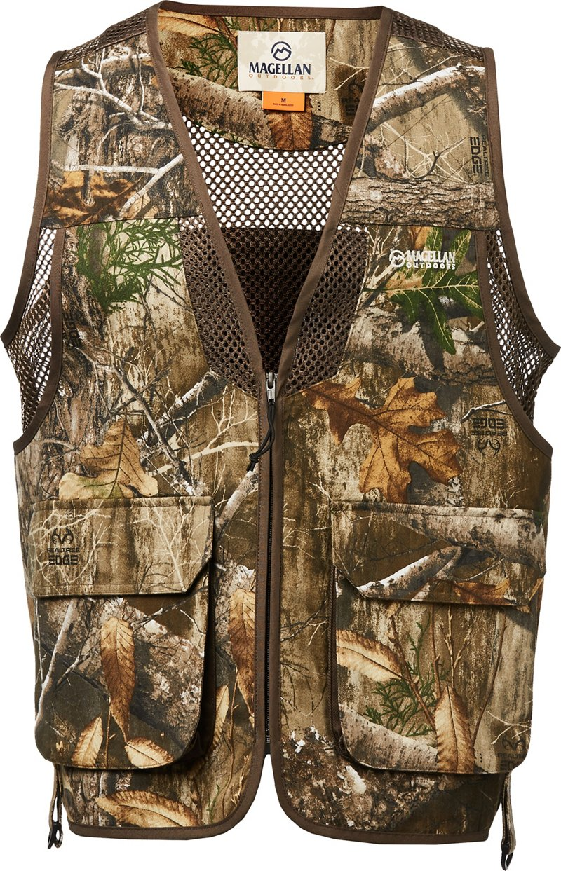 Magellan Outdoors Men's Deluxe Game Vest - Camo Clothing, Adult Non-Insulted Camo at Academy Sports