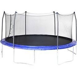 17' Oval Trampoline with Enclosure