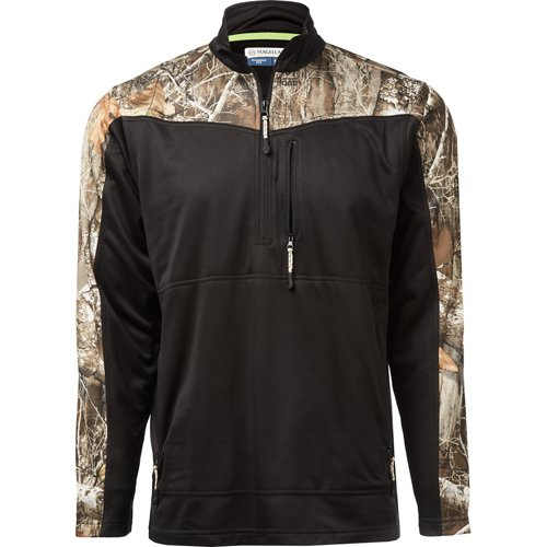 Magellan Outdoors Men's Hunt Gear 1/2 Zip Camo Shirt