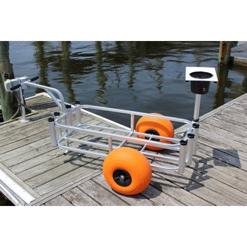 Angler's Fish-N-Mate Sr. Fishing Cart with Poly Wheels