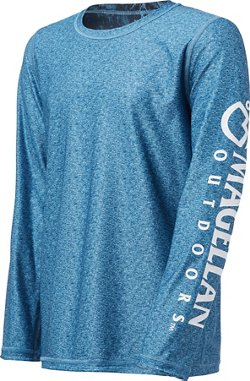 Magellan Outdoors Boys' Realtree Fishing CoolCore Reversible Long Sleeve T-shirt