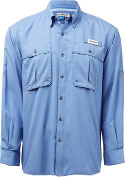 Magellan Outdoors Men's Aransas Pass Mini Check Long Sleeve Fishing Shirt