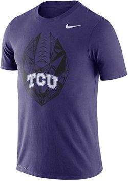 Nike Men's Texas Christian University Dri-FIT Cotton Football Icon T-shirt