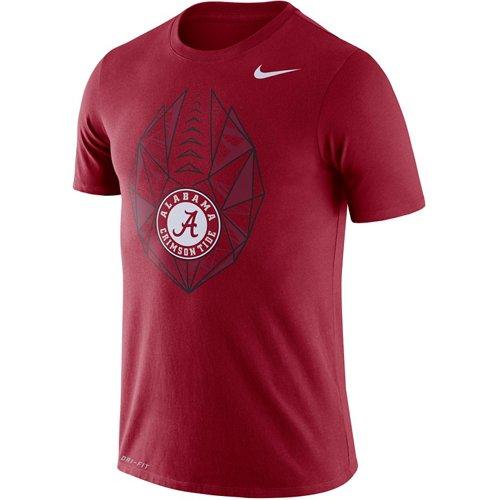Nike Men's University of Alabama Dri-FIT Cotton Football Icon T-shirt