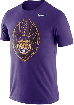 Nike Men's Louisiana State University Dri-FIT Cotton Football Icon T-shirt