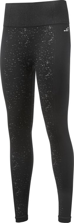 BCG Women's Seamless Mixed Texture Jacquard Leggings