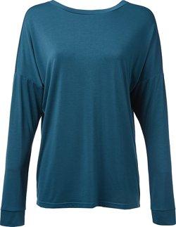 BCG Women's Lifestyle Crisscross Back Long Sleeve T-shirt