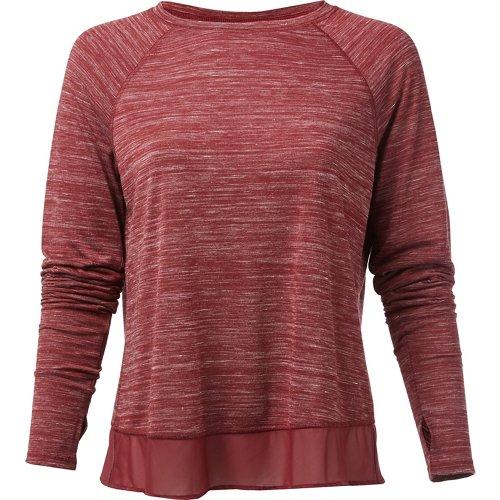 BCG Women's Double Layer Hem Long Sleeve T-shirt