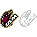 "Stockdale University of Louisiana at Monroe 4"" X 7"" Logo Decals 2-Pack"