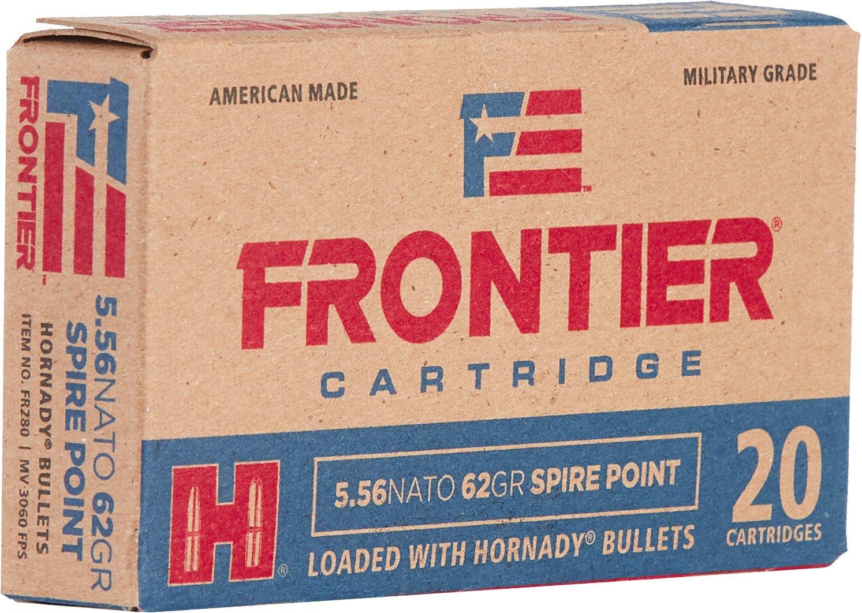 Hornady Frontier 5.56 x 45 NATO 62-Grain Centerfire Rifle Ammunition