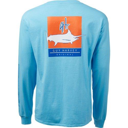 Guy Harvey Men's Matchbook Logo Long Sleeve T-shirt