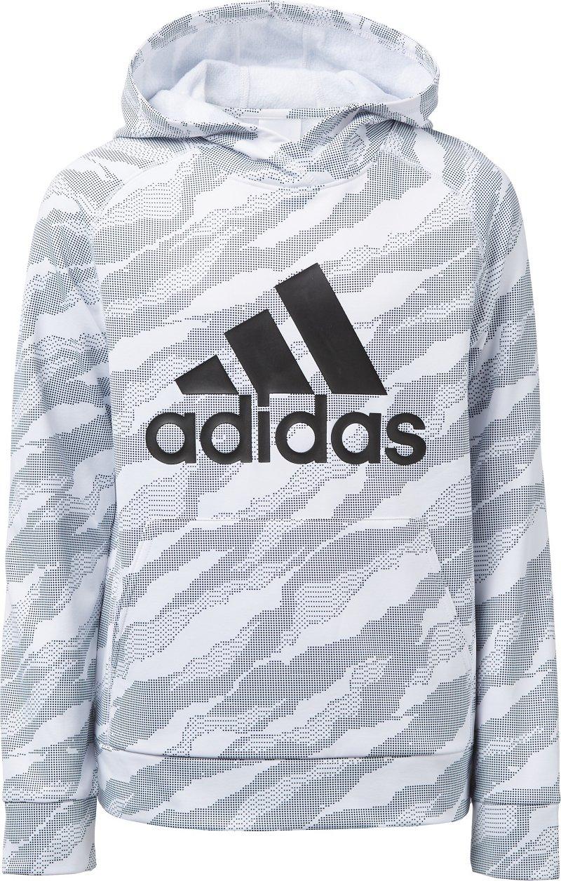 Adidas Boys' Moto Camo Pullover Hoodie (White, Size Small) - Boy's Apparel, Boy's Fleece at Academy Sports thumbnail