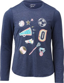Girls' Campus Essentials Graphic Long Sleeve T-shirt