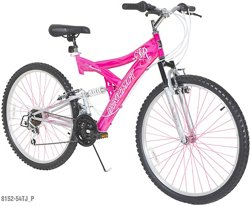Dynacraft Women's Air Blast 26 in 21 Speed Dual Suspension Bike