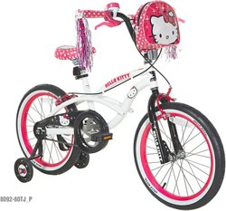 Dynacraft Girls' Hello Kitty 18 in Bicycle