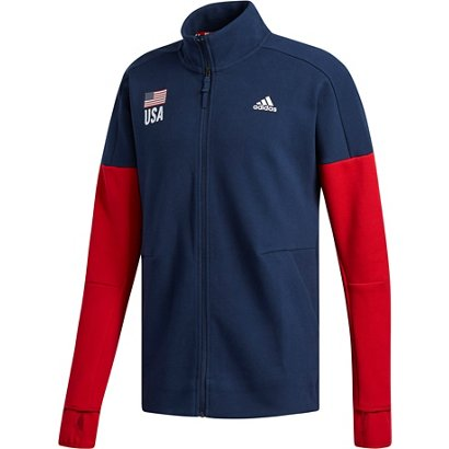 440c7d0d6a98 ... adidas Men's USA Volleyball Warm Up Jacket. Men's Jackets & Vests.  Hover/Click to enlarge