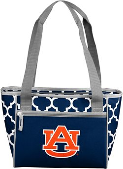 Logo Auburn University Quatrefoil 16-Can Cooler Tote