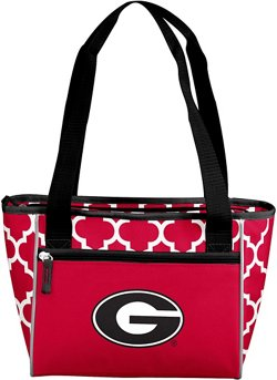 Logo University of Georgia Quatrefoil 16-Can Cooler Tote
